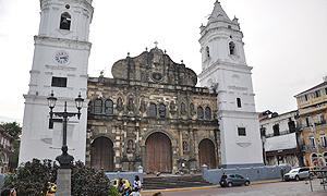 La cathédrale dans le quartier de Casco Viejo