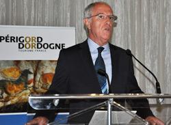 Jean-Fred Drouin, président du Comité départemental du tourisme Dordogne-Périgord